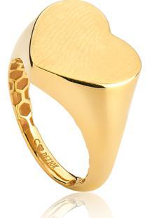Anel De Ouro 10K Coração Liso De Mingo-Coleção Signature