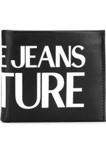 Versace Jeans Couture Carteira Com Estampa De Logo - Preto