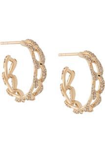 Astley Clarke 14Kt Yellow Gold Vela Diamond Hoops - Dourado