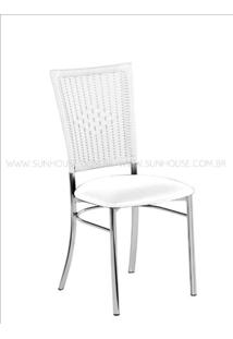 Cadeira Assento Korino Branco Enc. Junco Branco - 17606 - Sun House