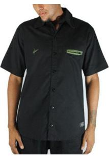 Camisa Outlawz Black Military - Masculino-Preto