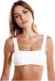 Top Rosa Chá Bloom Beachwear Off White Feminino (Off White, G)