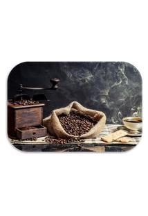 Tapete Decorativo Lar Doce Lar Coffee 40Cm X 60Cm Marrom