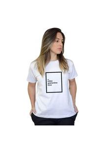 Camiseta Boutique Judith Enjoy Quarantine Time Branco