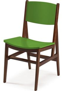 Cadeira Dumon Cacau E Verde Limão