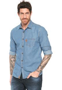 Camisa Jeans Triton Comfort Azul