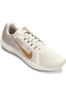 Tênis Nike Wmns Downshifter 8 Feminino - Feminino-Cinza+Dourado