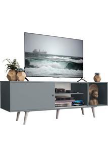Rack Madesa Dubai Para Tv Até 65 Polegadas Com Pés - Cinza/Branco 3Z09 Cinza