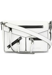 Karl Lagerfeld Bolsa Transversal Pequena - Branco