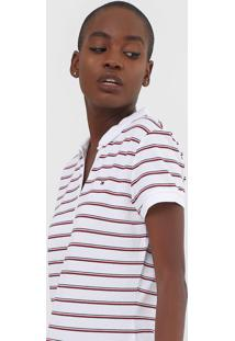 Camisa Polo Tommy Hilfiger Listrada Branca