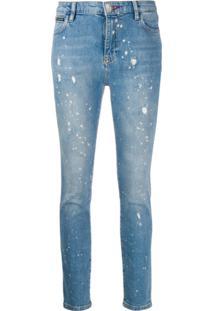 Philipp Plein Calça Jeans Slim Original - Azul