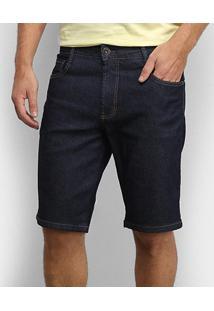 Bermuda Jeans Coca-Cola Comfort Masculina - Masculino-Azul