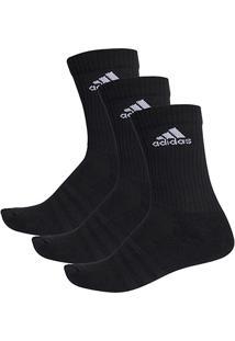 Meia Adidas Cano Alto Cushion 3S Pacote C/ 3 Pares - Unissex