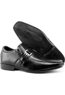 Sapato Social Topflex Masculino 600 - Masculino-Preto