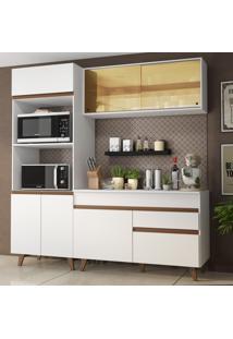 Cozinha Compacta Madesa Reims 190002 Com Armã¡Rio E Balcã£O - Branco Branco - Branco - Dafiti