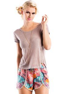 T-Shirt La Mandinne Lisa Cinza