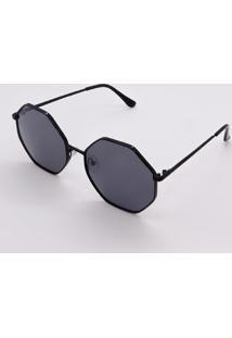 Óculos De Sol Sea Armação Metal Lente Proteção Uv400 Preto