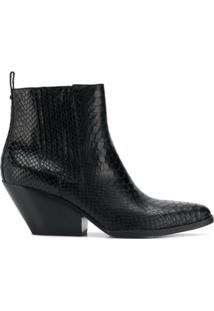 Michael Michael Kors Ankle Boot 'Sinclair' De Couro - Preto