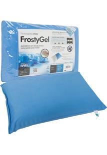 Travesseiro Fibrasca Frostygel Nasa Viscoelã¡Stico Block Base System 50X70Cm Azul - Azul - Dafiti