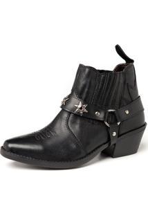 Bota Fran Boots Country Preta