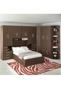 Dormitório De Casal Sem Cama 1222S Noce Málaga