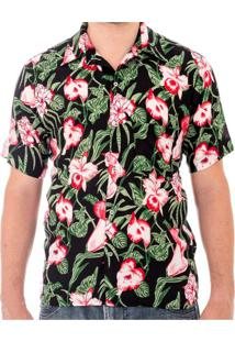 Camisa Andy Roll Floral Caktus Truely