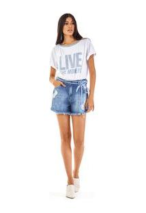 Shorts Five Pockets Cordao Jeans Jeans