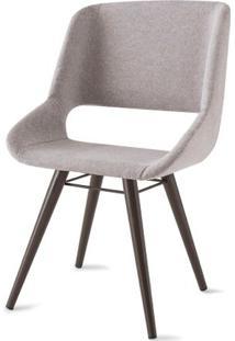 Cadeira Dife Assento Estofado Rustico Cru Base Tabaco - 55879 Sun House