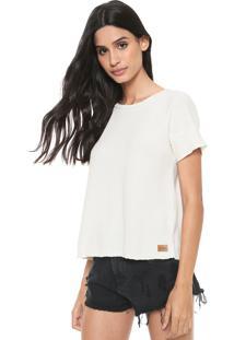 Camiseta Redley Recortes Off-White