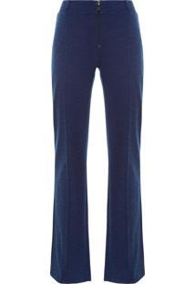 Calça Feminina Fleece Costura Vincada - Azul