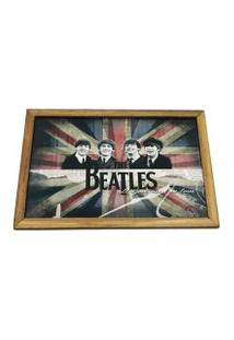Quadro Madeira Mdf 20X20 C/ Moldura E Acab. The Beatles Uk