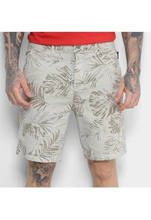 Bermuda Ellus Cotton Twill Ly Different Leaves Slim Masculina - Masculino