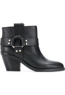 See By Chloé Ankle Boot Western - Preto