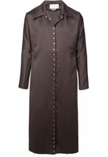 Ludovic De Saint Sernin Trench Coat Com Abotoamento - Cinza