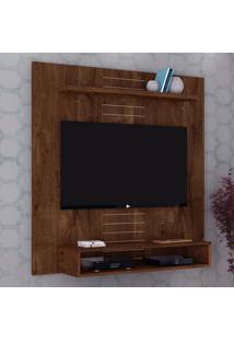 """Painel Para Tv Até 47"""" Smart 14075 Rústico Malbec - Dj Móveis"""