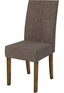 Cadeira Olímpia 2 Peças - Demolição Com Pena Marrom