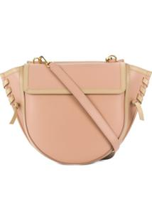 Wandler Oversized Stitch Shoulder Bag - Rosa