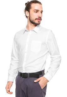 Camisa Calvin Klein Jeans Reta Lisa Branca