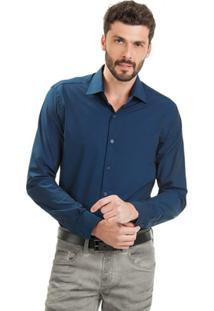 Camisa Di Sotti Navalhada Azul Marinho - Masculino