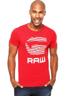 Camiseta G-Star Zebra Vermelha