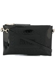 Versace Jeans Couture Clutch Com Logo Bordado - Preto