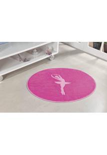 Tapete Formato Premium 78Cmx68Cm Bailarina Pink Guga Tapetes