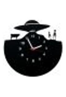 Relógio De Parede Decorativo - Modelo Ovni Abdução