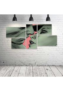 Quadro Decorativo - Love-Illustration - Composto De 5 Quadros - Multicolorido - Dafiti
