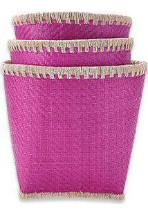 Cesta Laos M Cor: Rosa Pink - Tamanho: M