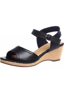Sandália Anabela Doctor Shoes 610 Preta