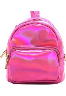 Bolsa Birô Pequena Metalizada Feminina - Feminino-Pink
