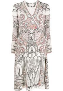 Etro Vestido Midi Com Estampa Paisley - Neutro