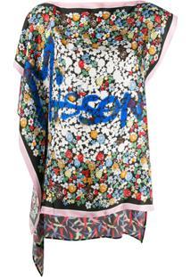 M Missoni Blusa Assimétrica Com Logo - Preto