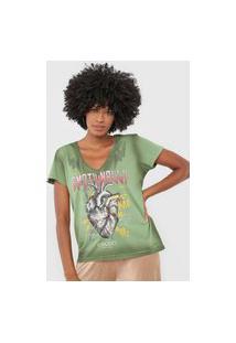 Camiseta Colcci Emotionally Verde